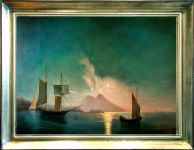 """The Bay of Naples by Moonlight. 1842."""